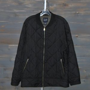 Men's Black Quilted GAP Coat, Size L